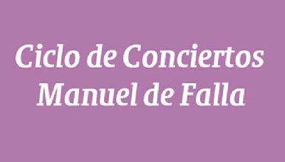 Cartel del ciclo de conciertos Manuel de Falla en la Sala Cero de Sevilla