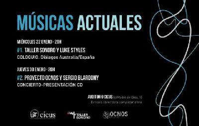 Cartel del Ciclo músicas actuales en el CICUS de Sevilla 2020