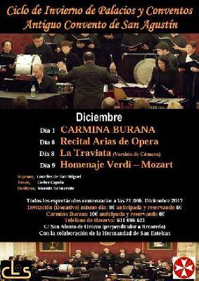 Conciertos del ciclo Palacios y Conventos de Sevilla (diciembre 2017)