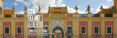 Cartel del concierto del Ciclo de Conciertos San Telmo Abierto en el Palacio de San Telmo de Sevilla