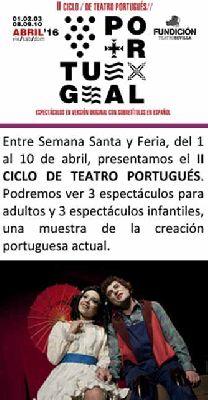 II Ciclo de Teatro Portugués en La Fundición Sevilla 2016
