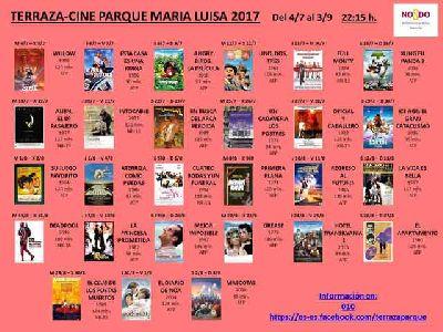 Cine de verano 2017 en el Parque de María Luisa de Sevilla