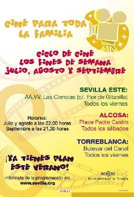 Cine familiar en Sevilla Este, Torreblanca y Parque Alcosa (verano 2013)
