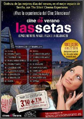 Cine de verano silencioso en Las Setas Sevilla