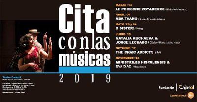 Cartel del ciclo Cita con las Músicas en Sevilla 2019