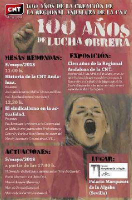 Centenario de la CNT en el Palacio Marqueses de la Algaba Sevilla