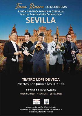 Cartel de concierto Coincidencias de la Banda Sinfónica Municipal de Sevilla