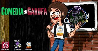 Cartel de Comedia en la Sala Garufa de Sevilla