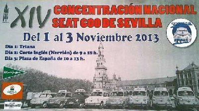 XIV Concentración Nacional de Seat 600 Ciudad de Sevilla 2013
