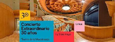 Cartel del Concierto extraordinario 30 años del Maestranza de Sevilla 2021
