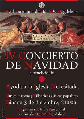 IV Concierto de Navidad 2016 en la iglesia de la Magdalena de Sevilla