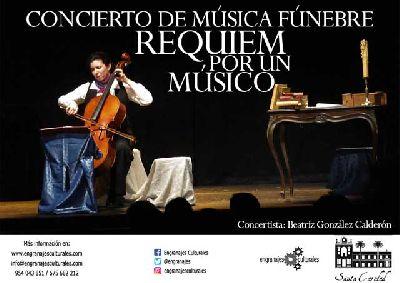 Cartel del concierto Requiem por un músico en el Hospital de la Caridad de Sevilla