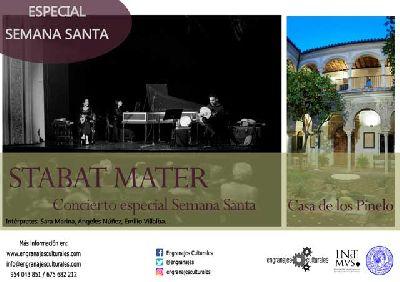 Cartel del concierto de Semana Santa Stabat Mater en la Casa de los Pinelo de Sevilla