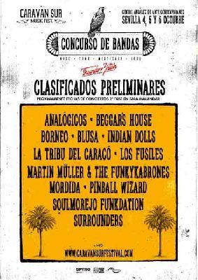 Conciertos: Concurso de bandas del II Festival Caravan Sur Sevilla 2018