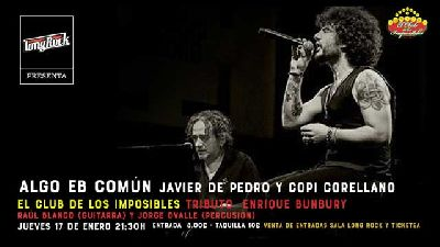 Cartel del concierto de Copi Corellano y Javier de Pedro en la sala Long Rock Sevilla 2019
