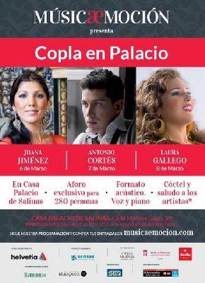 Conciertos: Copla en Palacio en la Casa de Salinas de Sevilla