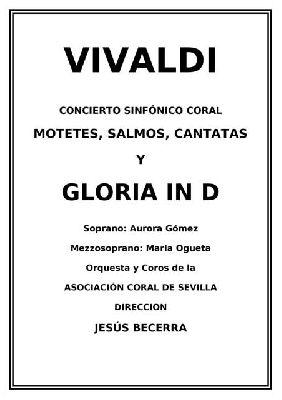 Concierto: Corpus Vivaldi por la Coral de Sevilla en la Anunciación