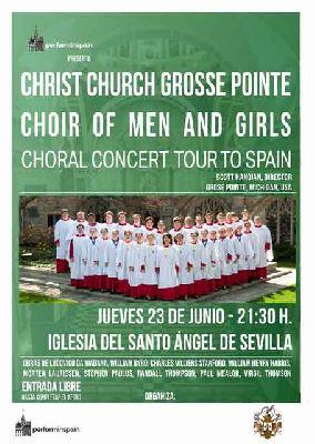 Concierto: Coro Christ Church Grosse Pointe en el Santo Ángel de Sevilla
