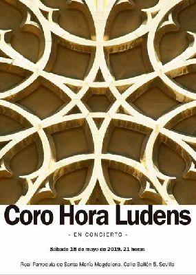 Cartel del concierto del coro Hora Luden en la iglesia de la Magdalena de Sevilla 2019