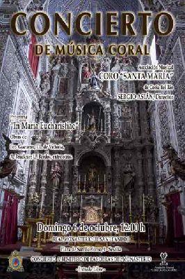 Cartel del concierto del Coro Santa María de Coria del Río en San Leandro Sevilla 2019