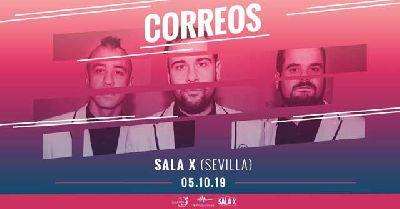 Cartel del concierto de Correos en la Sala X de Sevilla