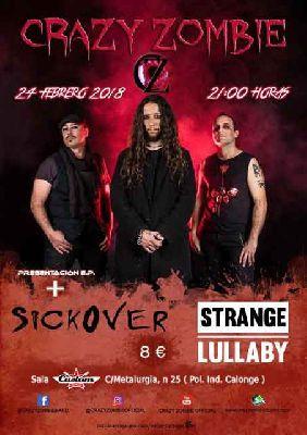 Concierto: Crazy Zombie, Sickover y Strange Lullaby en Custom Sevilla 2018
