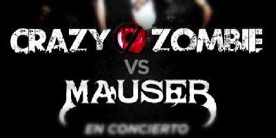 Cartel del concierto de Crazy Zombie y Mauser en la Sala Even Sevilla 2019
