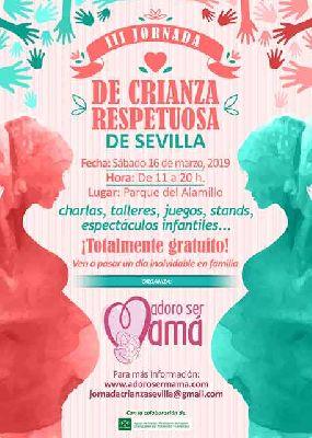 Cartel de la tercera Jornada de Crianza Respetuosa de Sevilla 2019