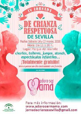 Cartel de la cuarta Jornada de Crianza Respetuosa de Sevilla 2020