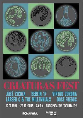 Cartel del concierto Criaturas Fest en la Sala X de Sevilla