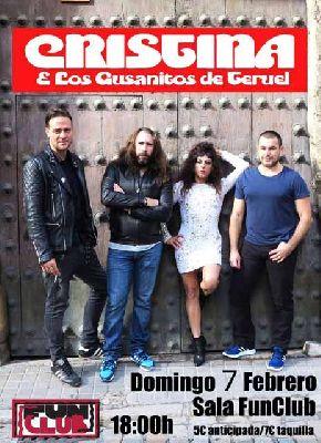 Concierto: Cristina y los gusanitos de Teruel en FunClub Sevilla