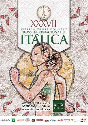 Cartel de la XXXVII edición del Cross Internacional de Itálica 2019