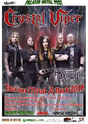 Concierto: Crystal Viper y Toxikull en la Sala Even Sevilla 2018
