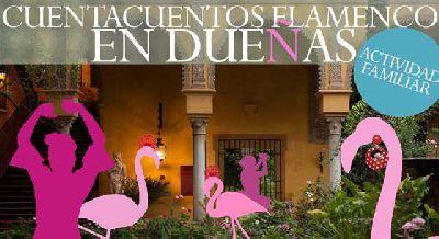 Cartel del Cuentacuentos flamenco en Dueñas