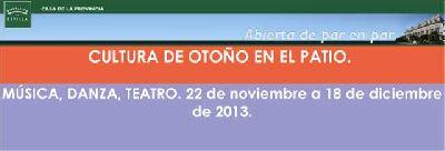Cultura de otoño en el Patio de la Casa de la Provincia Sevilla