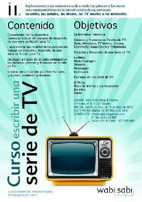 Curso de escritura para series de televisión en Wabi Sabi Sevilla