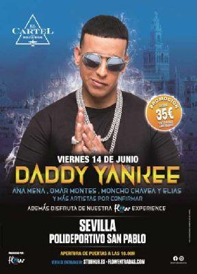 Cartel del concierto de Daddy Yankee en Sevilla 2019