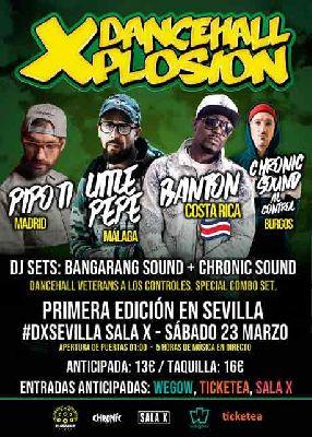 Cartel del concierto de DancehallXplosion en la Sala X de Sevilla
