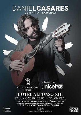 Cartel del concierto de Daniel Casares en el Hotel Alfonso XIII de Sevilla 2019