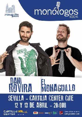 Cartel de Dani Rovira y El Monaguillo en el Cartuja Center de Sevilla 2019