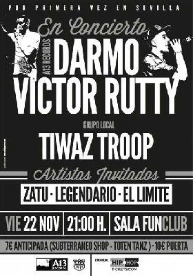 Concierto: Darmo, Víctor Rutty y Tiwaz Troop en FunClub Sevilla