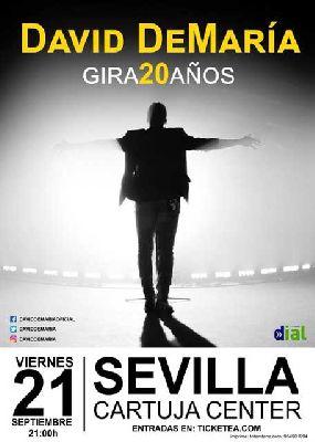 Concierto: David DeMaría en el Cartuja Center de Sevilla 2018