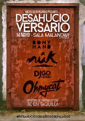 Fiesta-concierto Desahucioversario en Malandar Sevilla