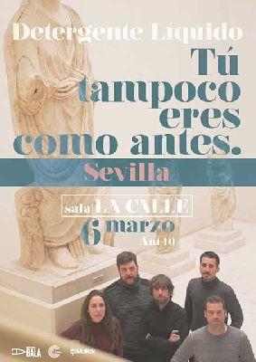 Cartel del concierto de Detergente Líquido en sala La Calle Sevilla 2020