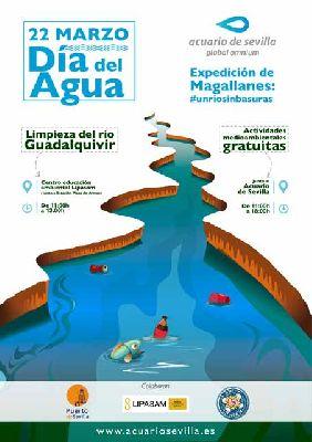 Cartel de las actividades por el Día del agua 2019 del Acuario de Sevilla