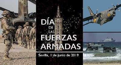 Cartel del Día de las Fuerzas Armadas en Sevilla 2019