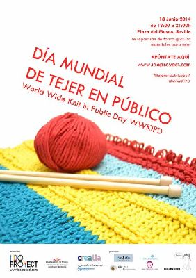 Día mundial de tejer en público en Sevilla