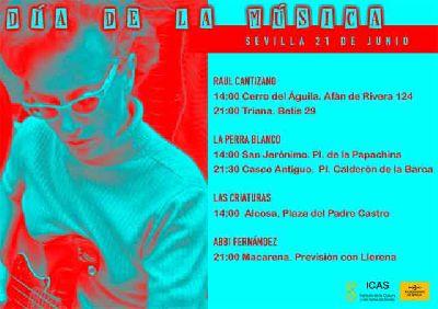 Cartel del Día de la Música en Sevilla 2019