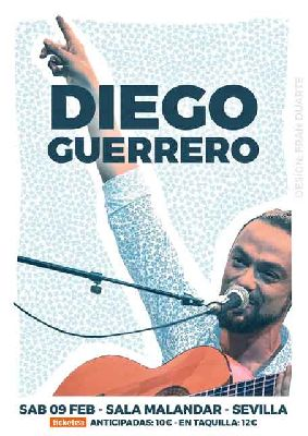 Cartel del concierto de Diego Guerrero en Malandar Sevilla 2019