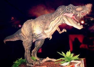 Foto del Tyrannosaurus rex de la exposición Dino Expo XXL